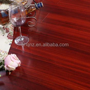 Household Dark Red Okan Solid Wood Flooring For Indoor Factory Offer Smooth
