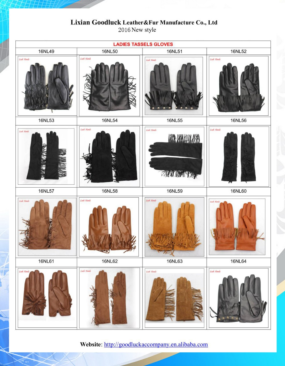 Fashion Color of leather gloves for women