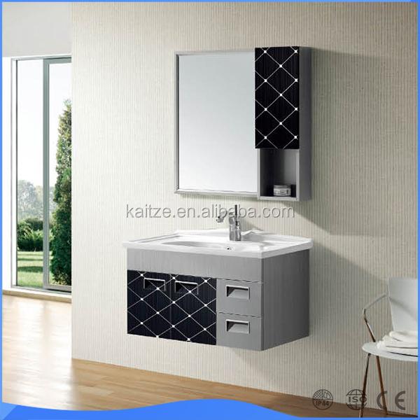 700mm SS estilo de uma pia do banheiro armário debaixo da piaPenteadeiras pa -> Pia Do Banheiro Armario