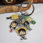 One Piece anime keychain cute keyring for children high quality christmas gift creative