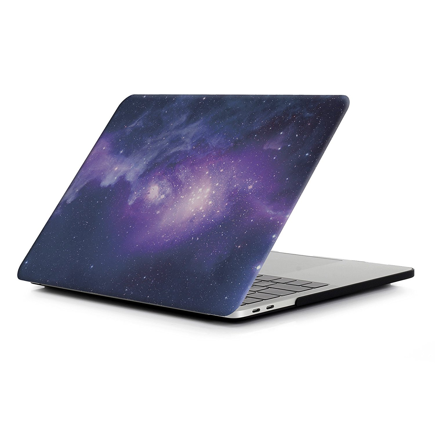 MacBook Pro 15 Case 2016, Halnziye Smooth Soft-Touch Plastic Hard Cover Shell for Newest MacBook Pro 15 inch with Retina Display (Model A1707 with/without Touch Bar and Touch ID) - Purple Space