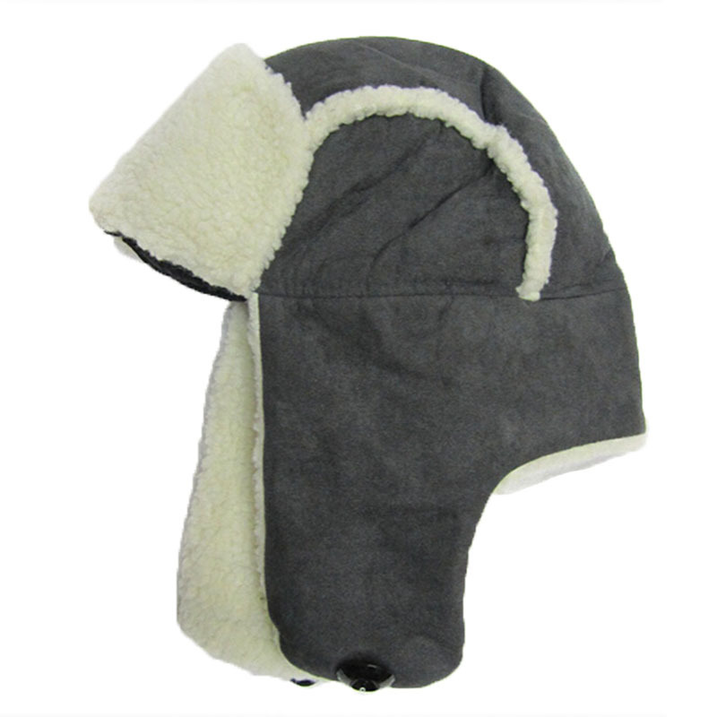 510e0c8560b Winter Russian Hat With Ear Flaps Keep Warm Faux Fur Lamb Bomber Hat Men  Outdoor Sports