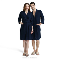 Soft Fleece Waffle Hotel Spa Bath Robe