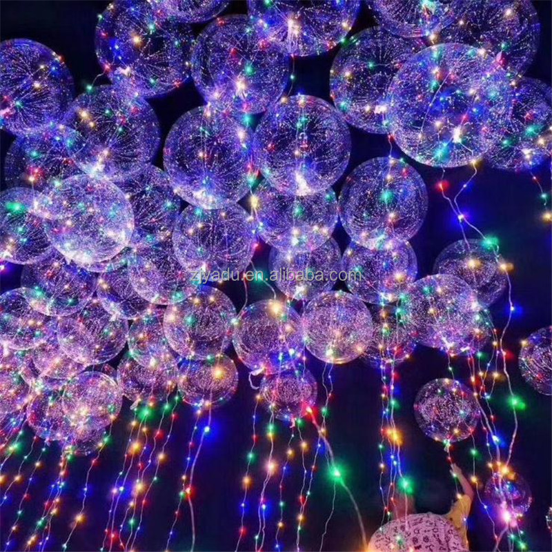 hot decoration LED light bobo ballon 18 inches LED balloon helium China light