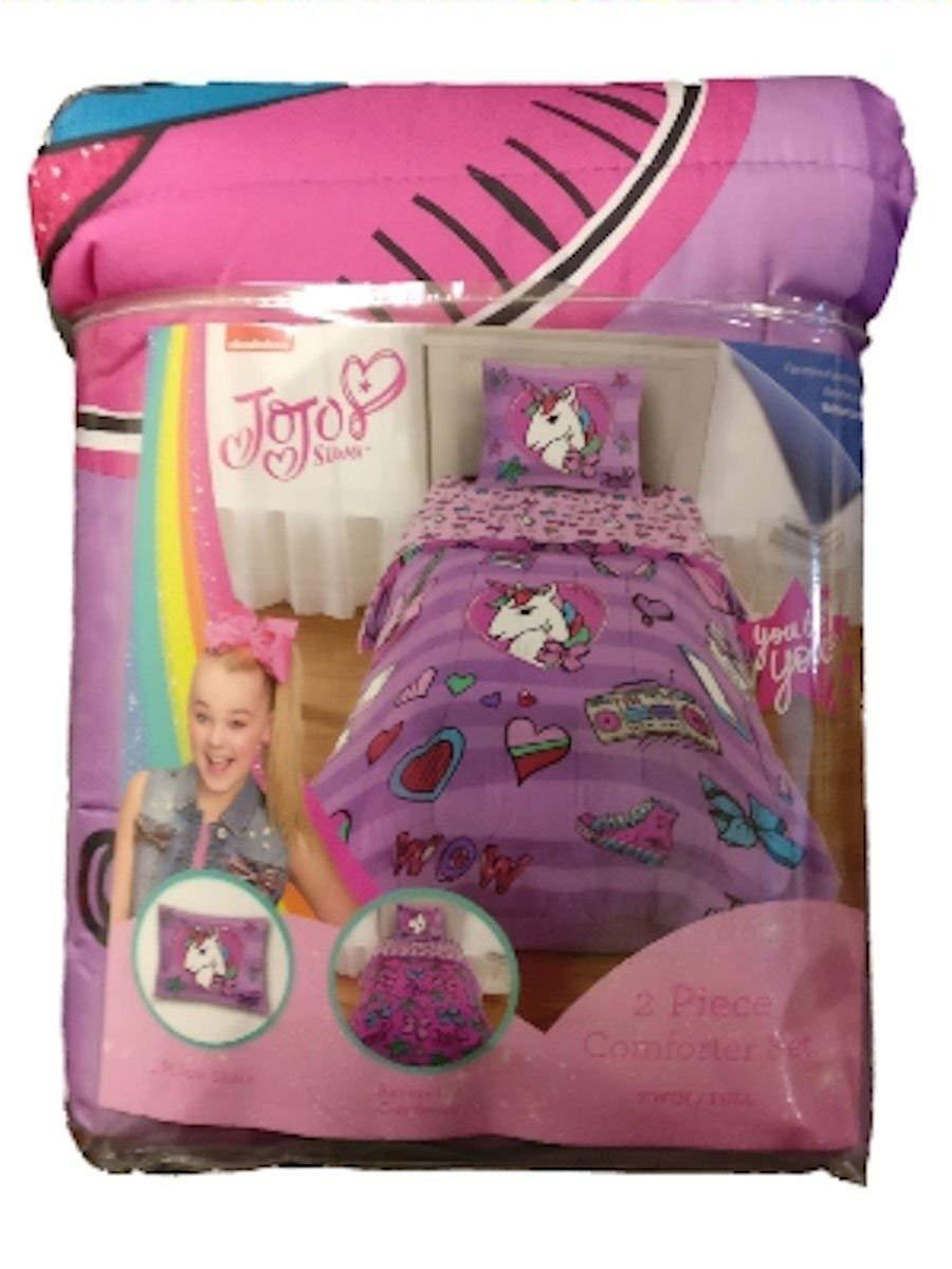 JoJo Siwa Purple Unicorn 2 Piece Comforter Set (Twin)