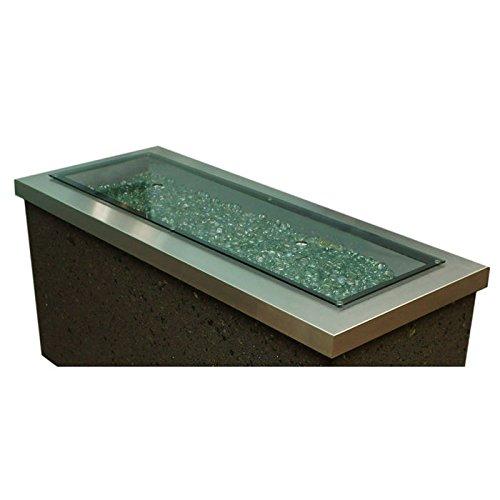 "12""x42"" Burner Crystal FirePit Table Glass Cover"
