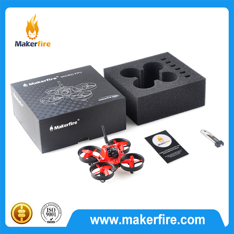 Makerfire tiny whoop FPV RC drone quadcopter Compatible with DSM receiver F3 flight controller