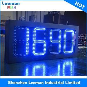 projection time clock countdown 12 inch led gas oil price sign board