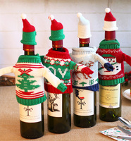 Christmas Wine Bottle Covers Gift Decorations Santa Claus Christmas Mini Wine Bag Bottle Bag