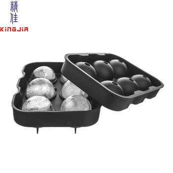 Amazon Premium de silicona diseño de bola cubo de hielo molde de la bandeja  de las 5a98073fd279f