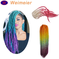 Wholesale High Quality Cheap Price Three Tones Havana Mambo Twist Crochet Braid Ombre Havana Twist Synthetic Hair Extension