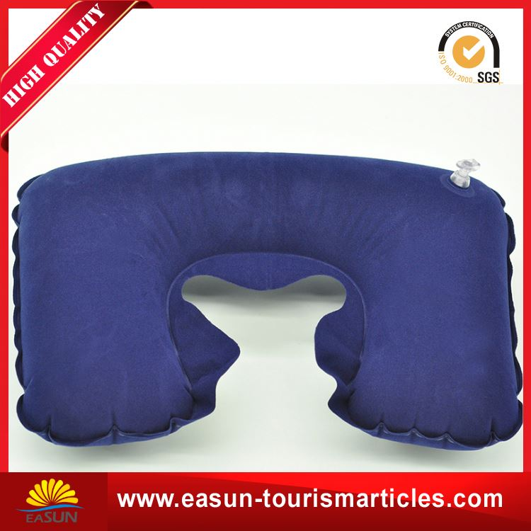 Cheap inflatable pillow for aviation inflatable spa bath pillow neck pillow airplane