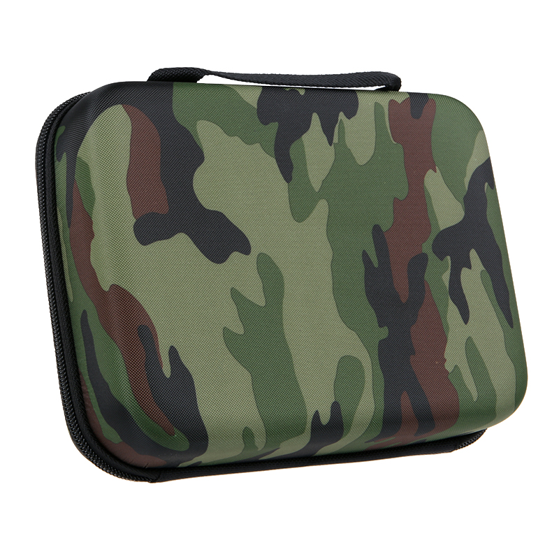 HSU Medium Travel Portable Camouflage Shockproof PU Protective Camera Bag Case for Gopros