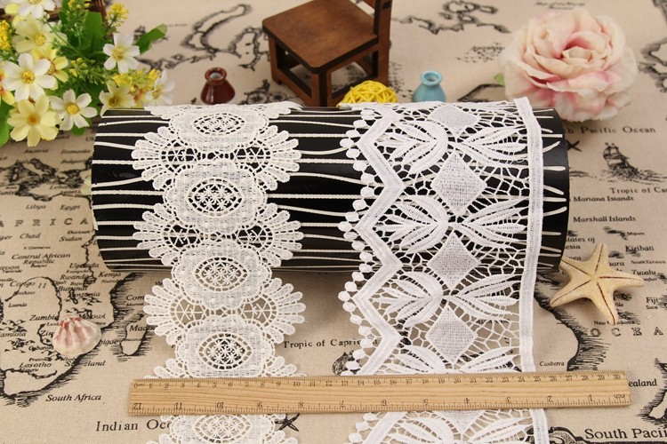 free sample white ribbon lace border liturgical lace trim for garment