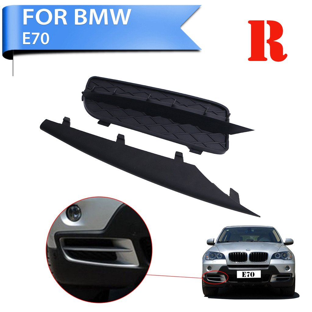 Kitty Party Right (Passenger Side) Front Bumper Lateral Grill & Trim Molding For BMW X5 E70 07-10