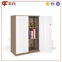 Modern Design Steel Door Small Cabinet Storage 2 Layers Office Filing Cabinet