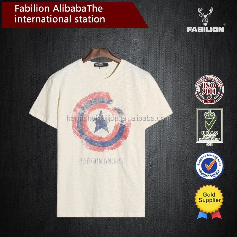 The new Vintage wash do old captain America short sleeve T-shirt Japanese fashion t-shirts of fine cotton t-shirts