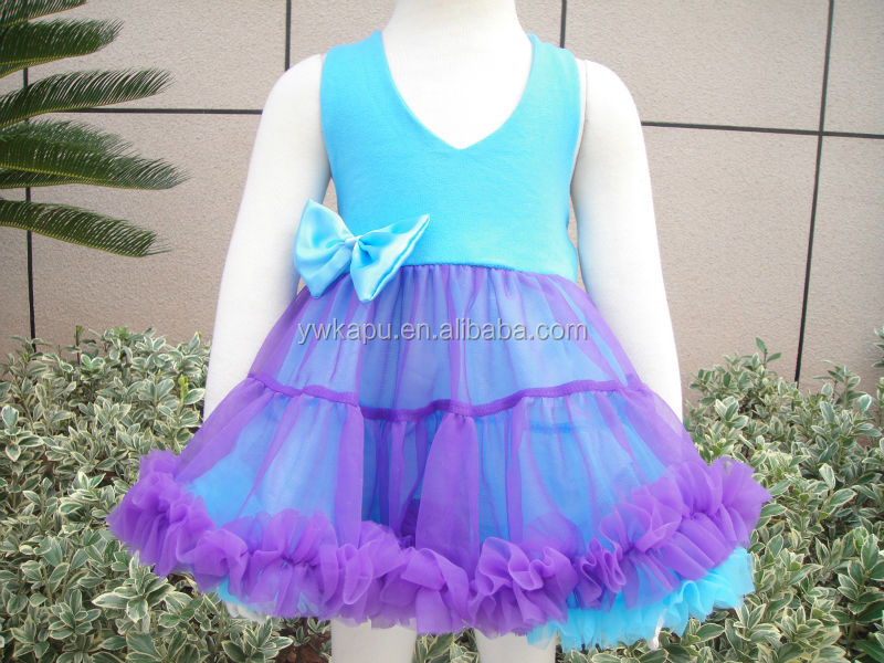 Summer newest princess baby dress in stock light blue princess dress princess cut dress
