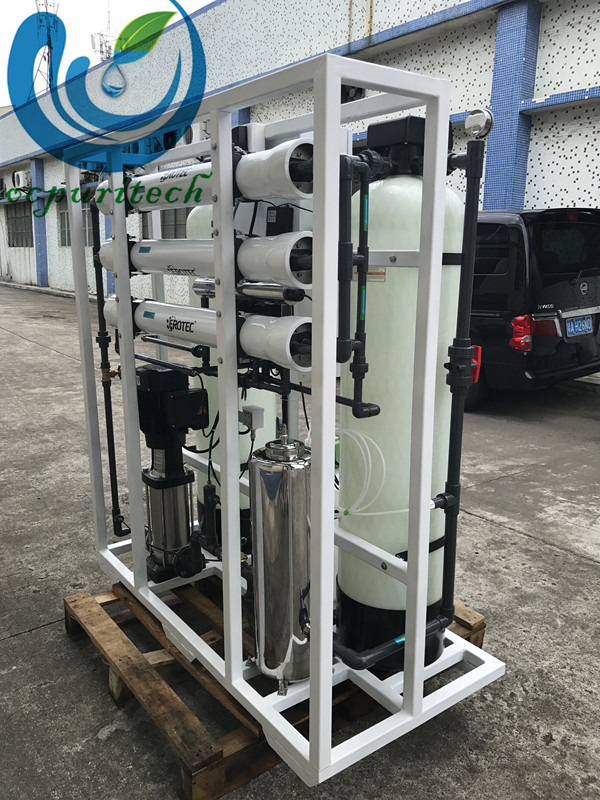 Industrial 750lph ro system for water purification