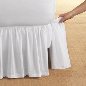 Top quality hotel/home cotton bed skirt with fitted sheet