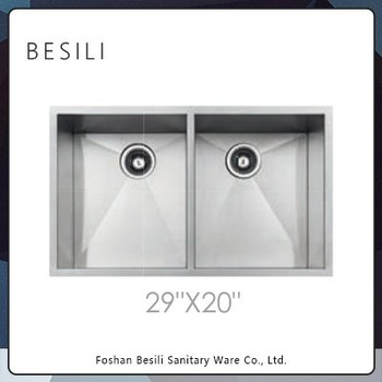 Stainless steel double bowl kitchen sink at competitive price D2920 ...