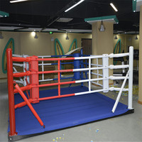 floor mounted 4m small size boxing boxing ring for training
