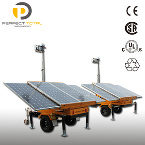 Mobile Trailer Solar Power Light Tower