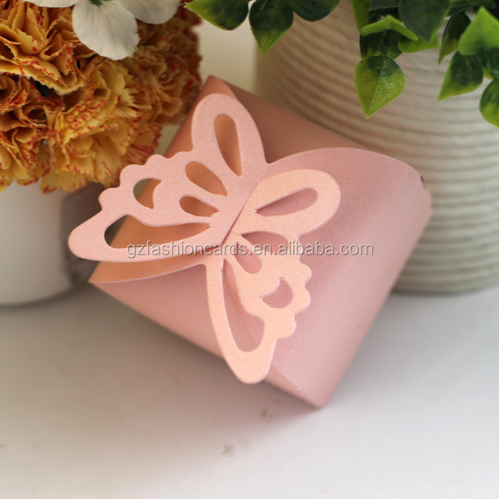 2016 Unique Chinese Style Romantic Ideal Butterfly Wedding Custom Laser Cut Candy Box