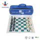 Roll Up PU leather Chess / checker Travel Game Set with wood or plastic chess pieces & carry bag