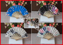 Dragon shape design bamoo cloth fan