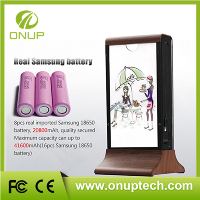 Table Stand Advertising shenzhen power bank charging station restaurant with CE certificate