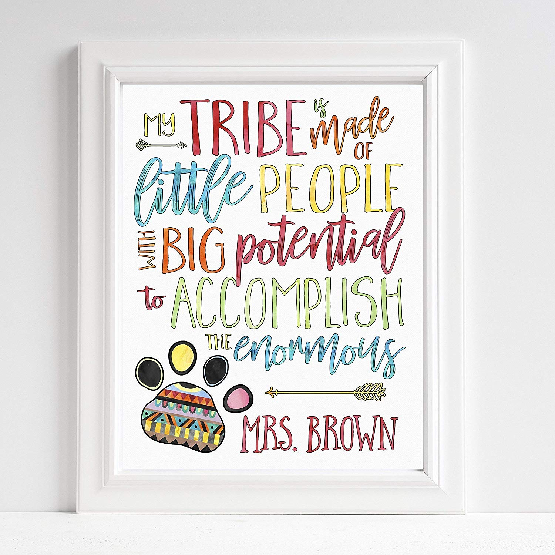 Buy GIFT FOR TEACHER - CLASSROOM ART - My Tribe - Teacher Tribe
