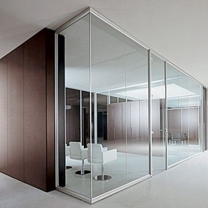 Modular aluminum glass partition morden office workstation design