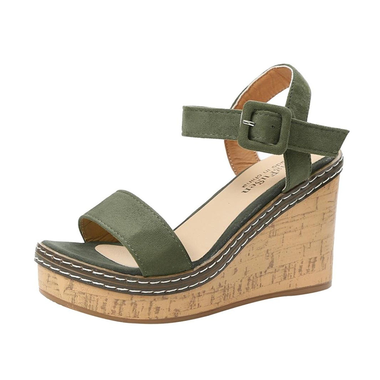 96eabb627e53 Get Quotations · Sikye Women Wedge Sandals