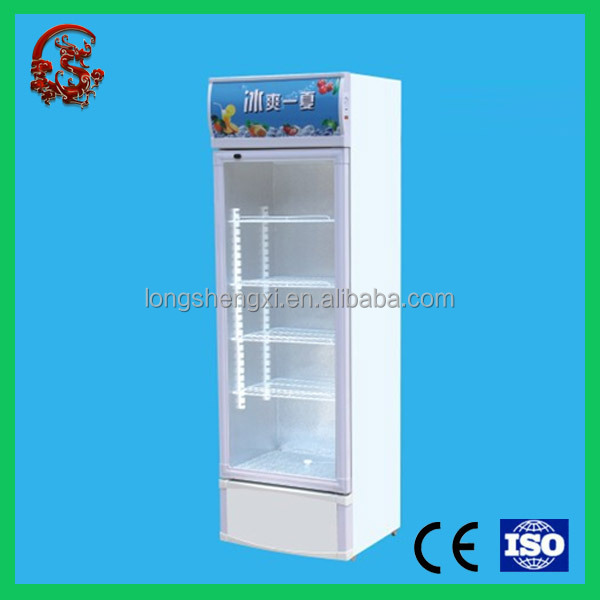 New upright glass door beverage display cooler with good quality