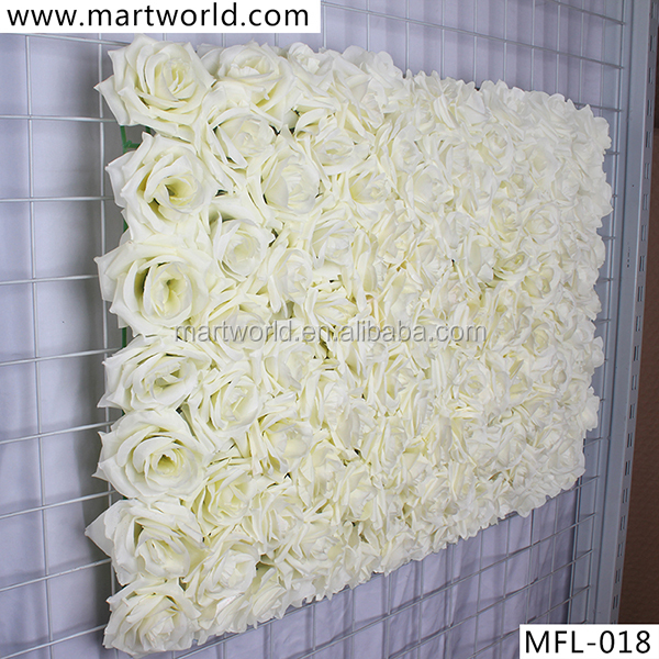 2018 New White Wedding Backdrops For With Rose Decoration Flower Wall Weddings Mfl 018