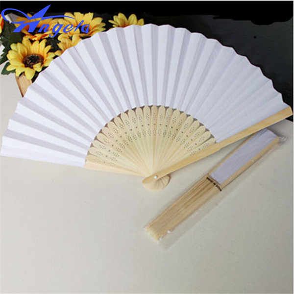 Wholesale 50pcs Lot Custom Ladies Wedding Hand Fan