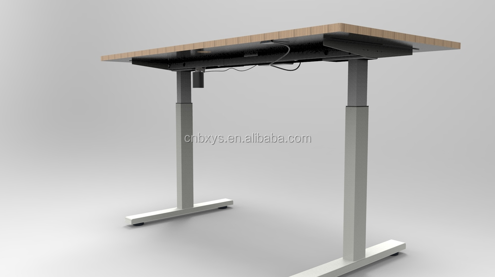 Ergonómico de altura eléctrico de oficina ajustable mesa ...