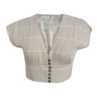 Casual Fashion Women yarn dyed cotton plaid blouses shirts