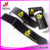 Black Nylon hook and loop ski straps with customized logo print