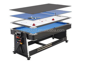 Genial 7ft REVOLVER 4 In 1 Pool / Air Hockey / Table Tennis Game