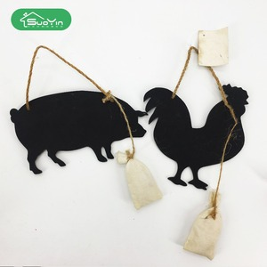 Foldable animal pig/cock shape wooden children chalkboard blackboard