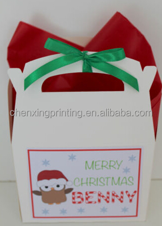 Personalised Christmas Gift Paper Box Activity Bag Favour Decoration