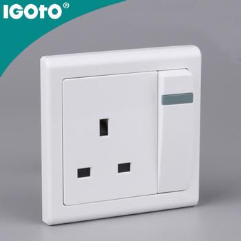 British Standard Electric Switch Socket Safe Wall Socket Plugs Wall ...