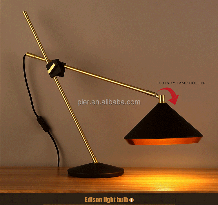 Decorative industrial Vintage LED desk lamp Indoor iron table lamp
