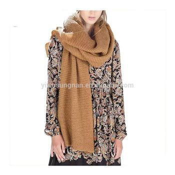 Latest Europe Simple Warm Wool Hat Scarves Gloves Three-piece Set