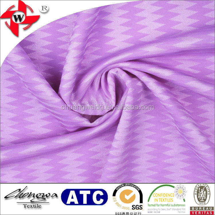 new white light purple sawtooth jacquard lycra beachwear fabric