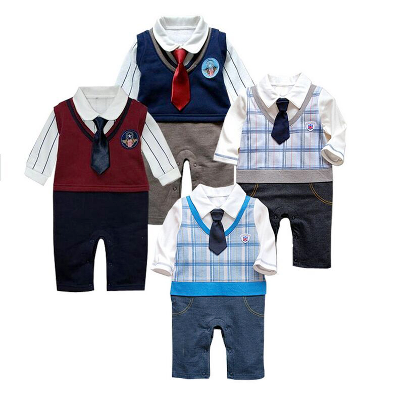 8fff3b78f Buy 2015 infant Baby boy tuxedo Romper newborn Baby boys clothes kids Long  sleeve gentleman suit toddler baby clothing 4- 24 months in Cheap Price on  ...