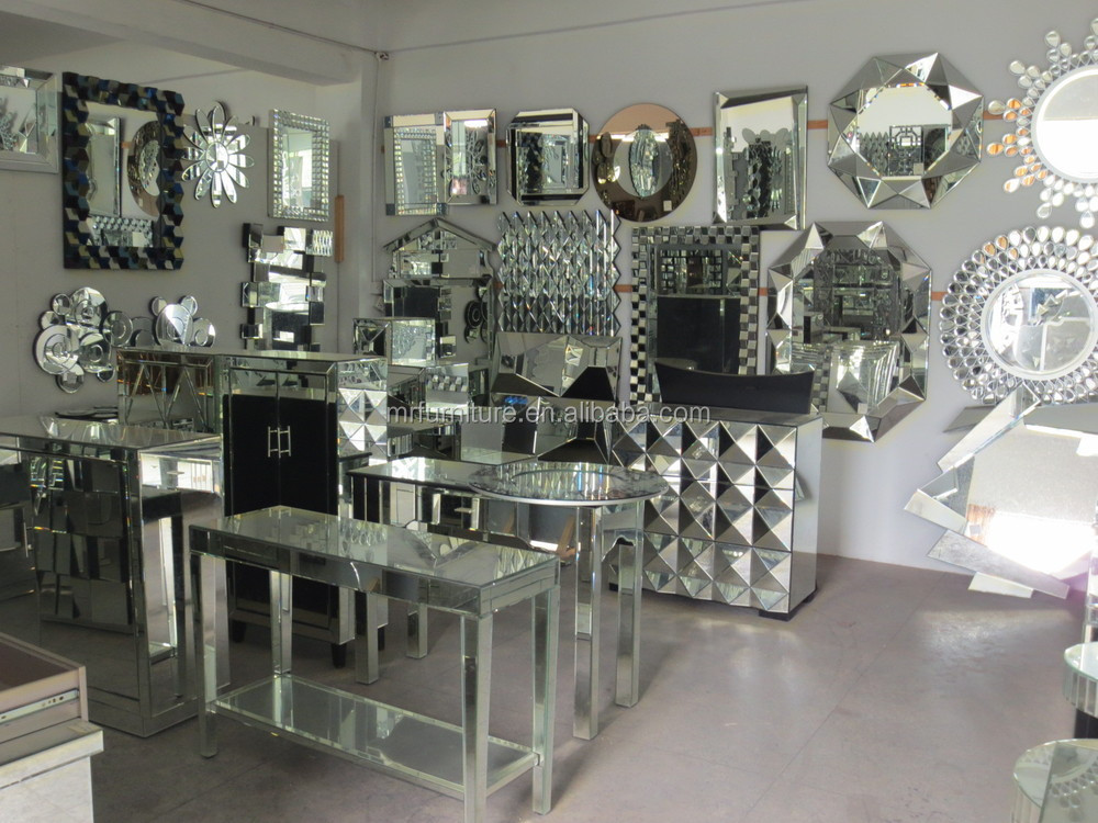 Modern Diamond Coffee Table/living Room Mirrored Furniture