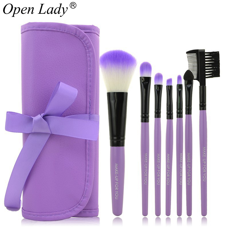 7pcs kits Makeup Brushes Professional Set Cosmetics Brand Makeup Brush Tools Foundation Brush For Face Make
